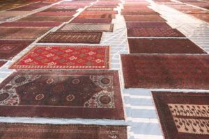 A lot of rugs at Deep Clean company