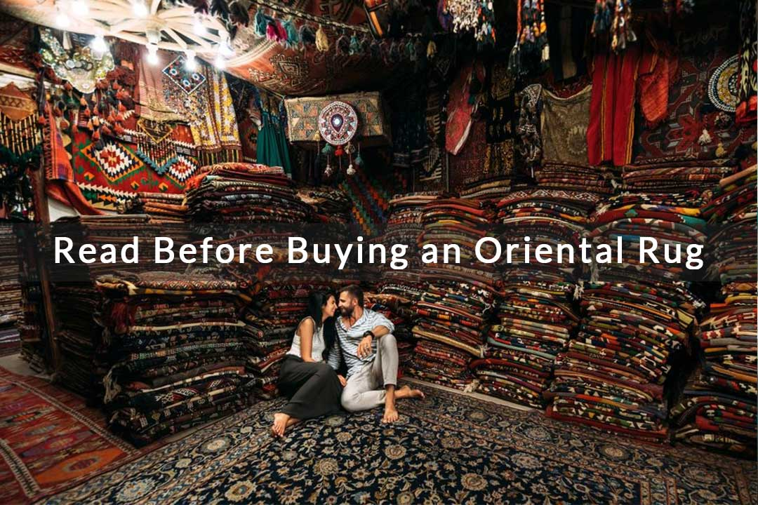 A couple in Oriental Rug Shop London