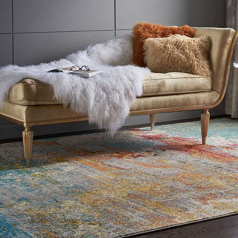 Dunelm Multi Coloured Rug